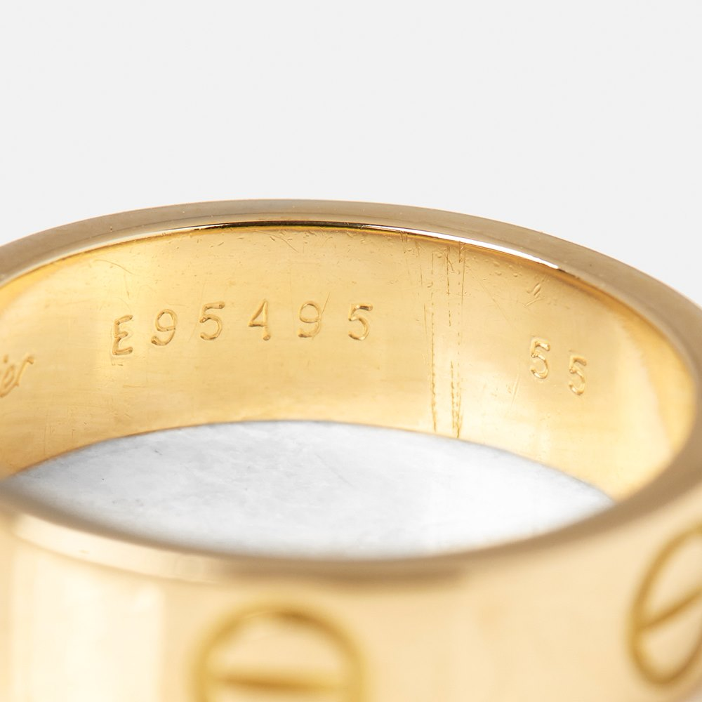 Cartier 18k Yellow Gold Love Ring Size N J452 | Second ...