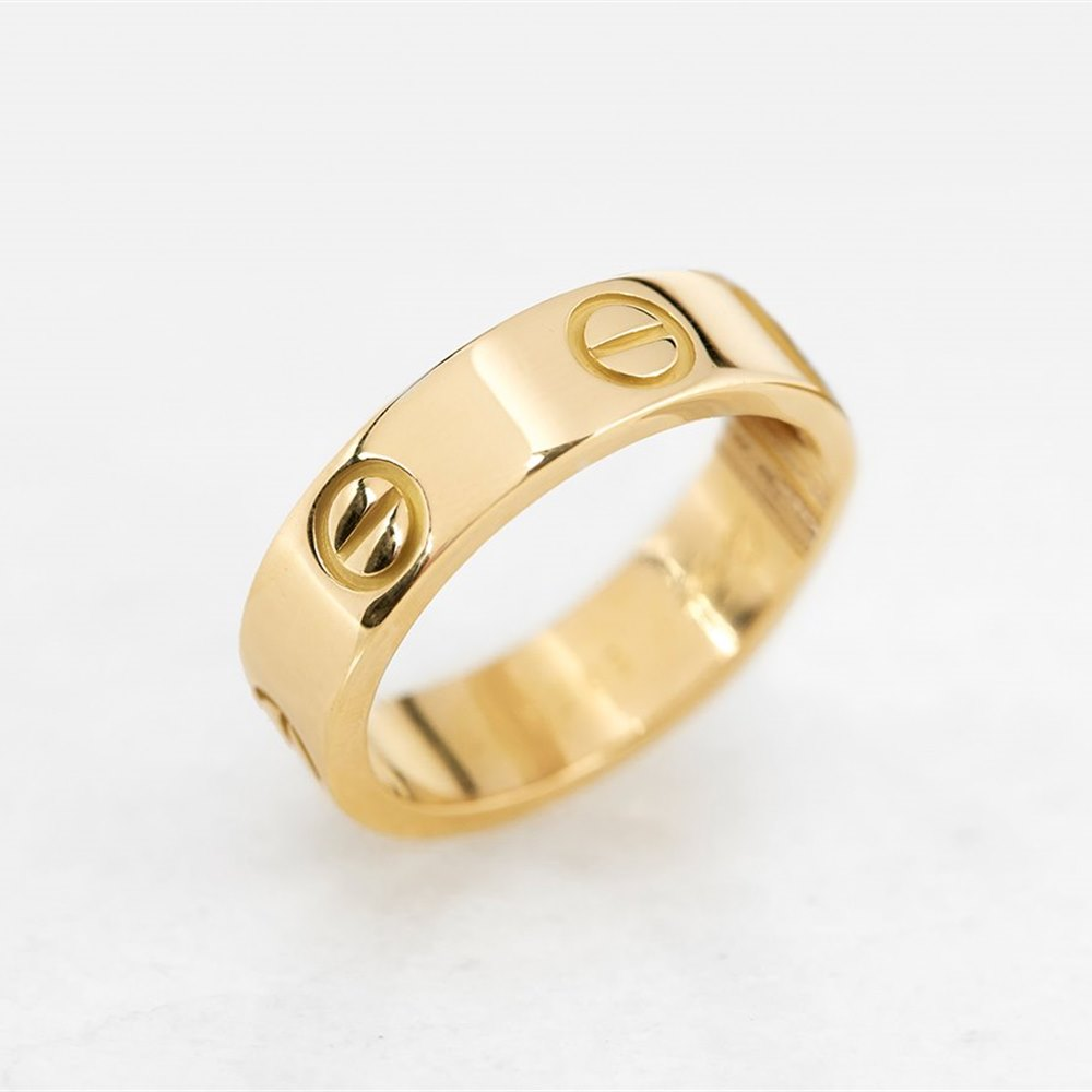 Cartier 18k Yellow Gold Love Ring Size N