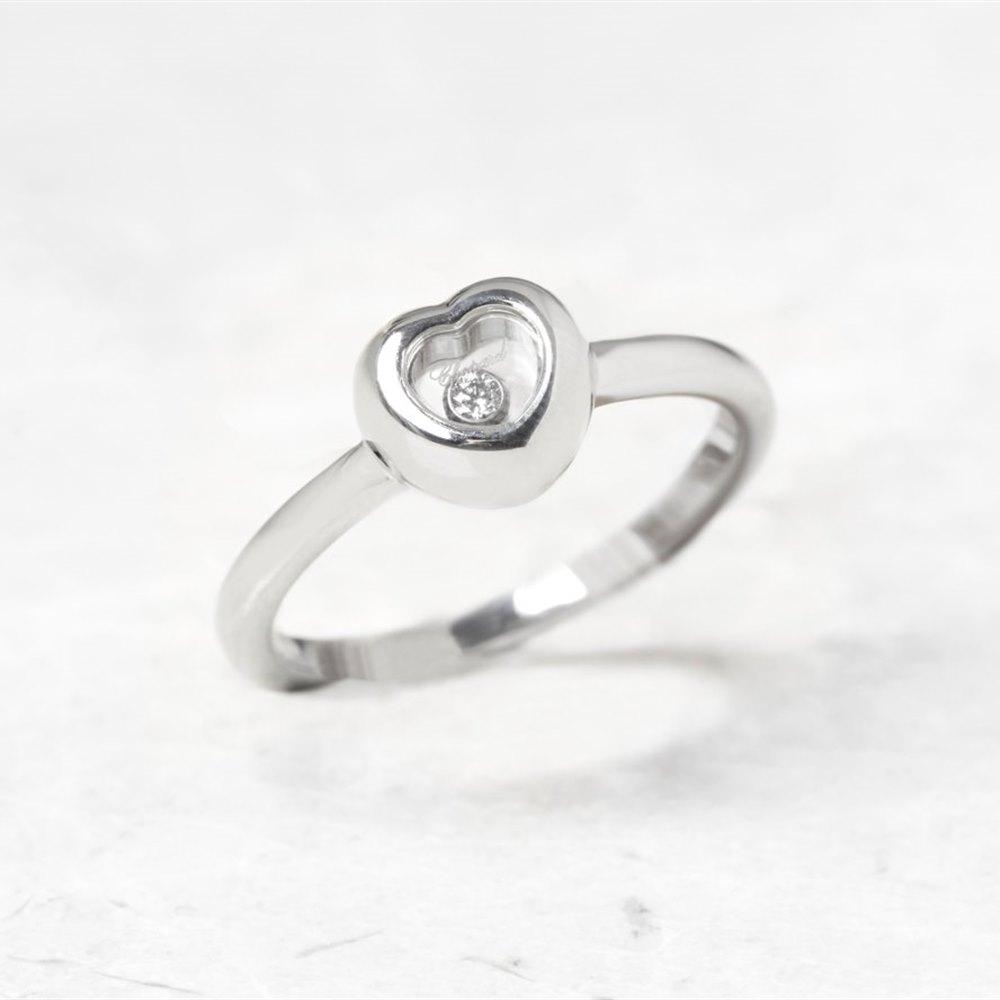 Chopard 18k White Gold Heart Small Happy Diamonds Ring