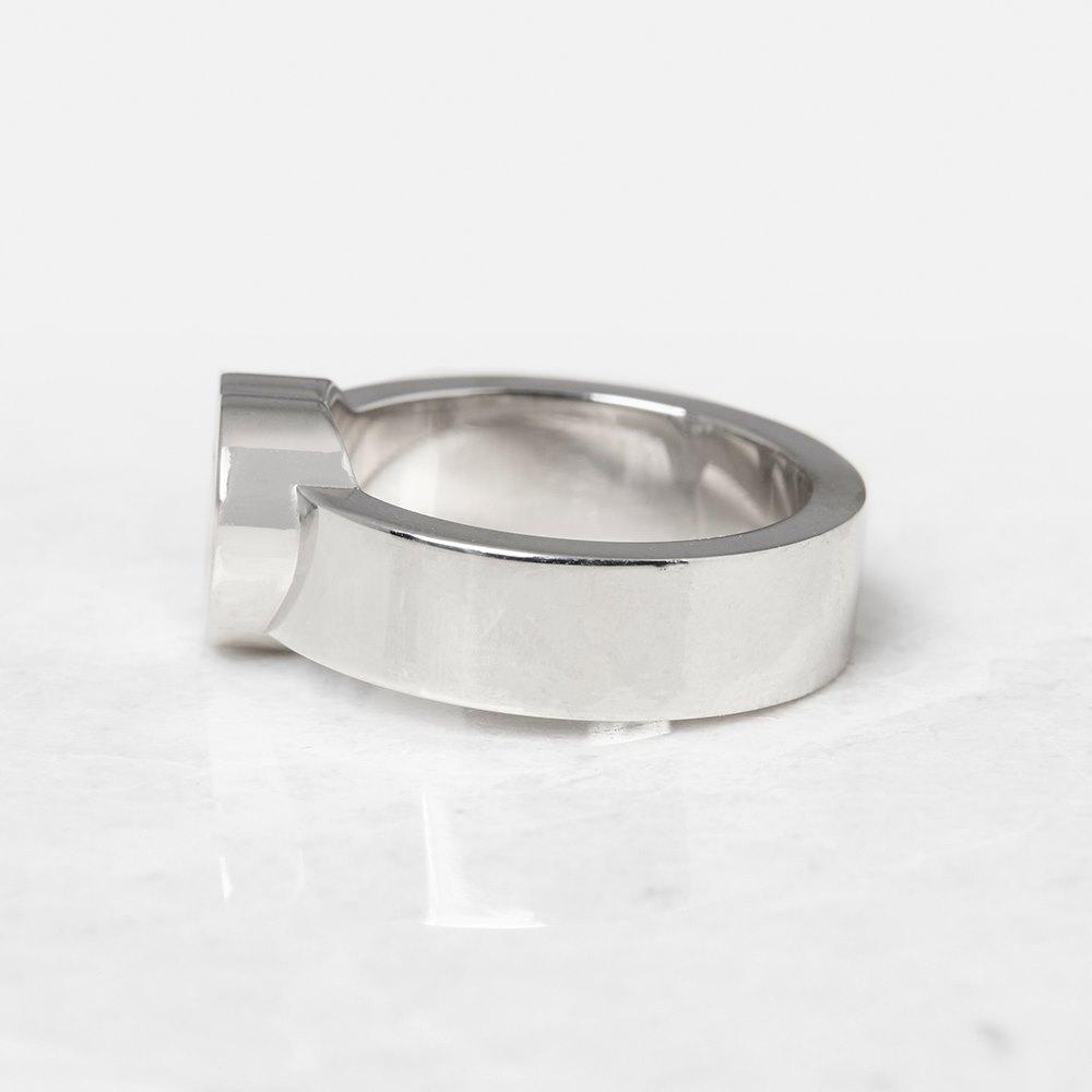 Chopard 18k White Gold Heart Happy Diamonds Ring Size M