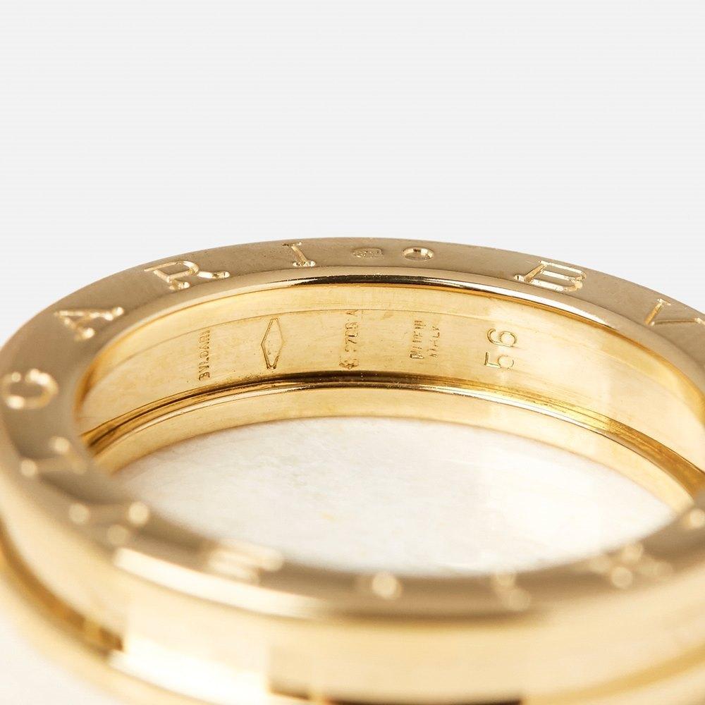 Bulgari 18k Yellow Gold 1 Band B.Zero 1 Ring Size P