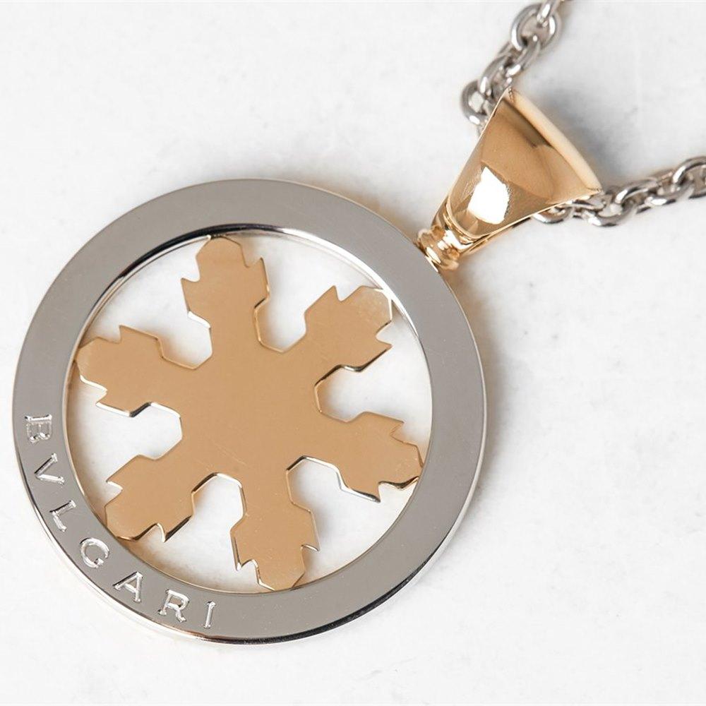 Bulgari 18k Yellow Gold & Stainless Steel Tondo Necklace