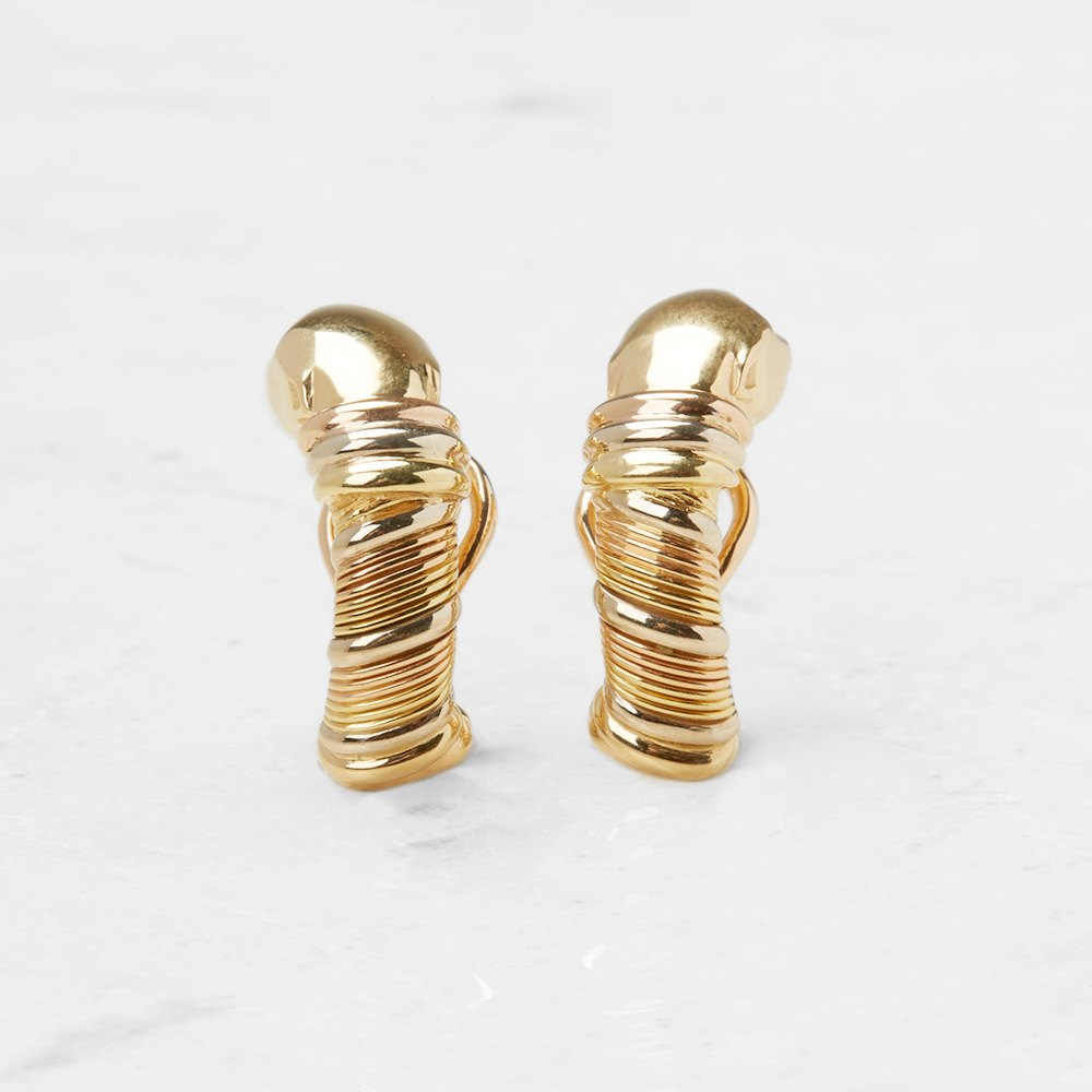 Cartier 18k Yellow Gold Panthère Earrings