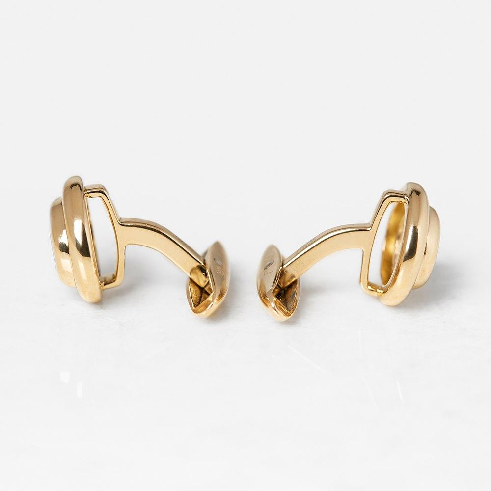 Chopard 18k Yellow Gold Happy Diamonds Cufflinks