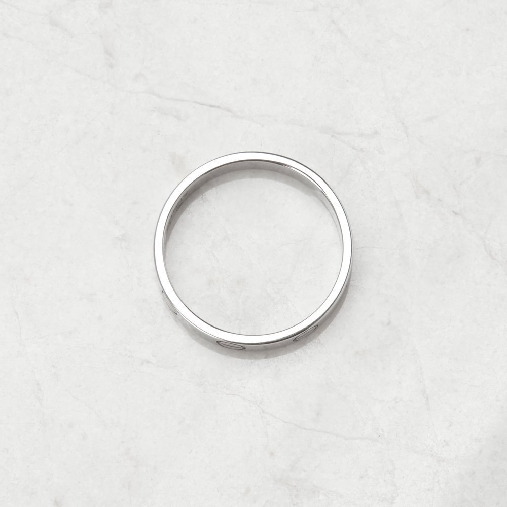 Cartier 18k White Gold Mini Love Ring Size M