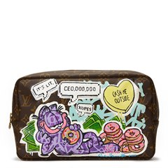 Louis Vuitton Hand-painted 'Ca$h Me Outside' Xupes X Year Zero London Toiletry Pouch