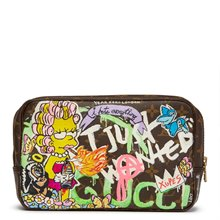 Louis Vuitton Hand-painted 'I just wanted Gucci' Xupes X Year Zero London Toiletry Pouch