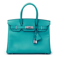 Hermès Blue Paon Epsom Leather Birkin 30cm