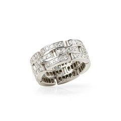 Cartier 18k White Gold Diamond Maillon Ring