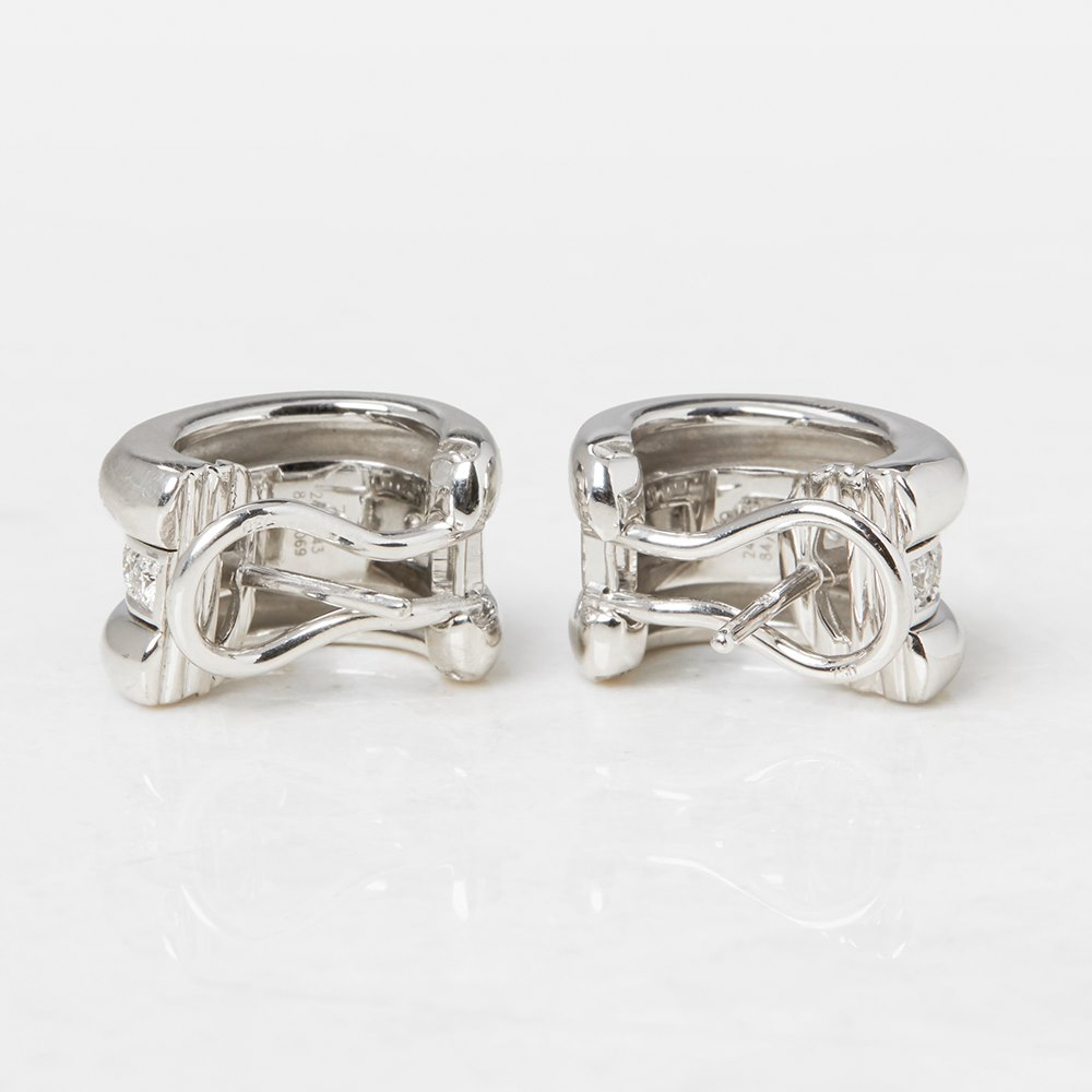 Chopard 18k White Gold Diamond La Strada Earrings