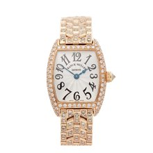 Franck Muller Cintree Curvex Diamond 18K Yellow Gold - 2251QZ