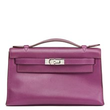 Hermès Anemone Swift Leather Kelly Pochette