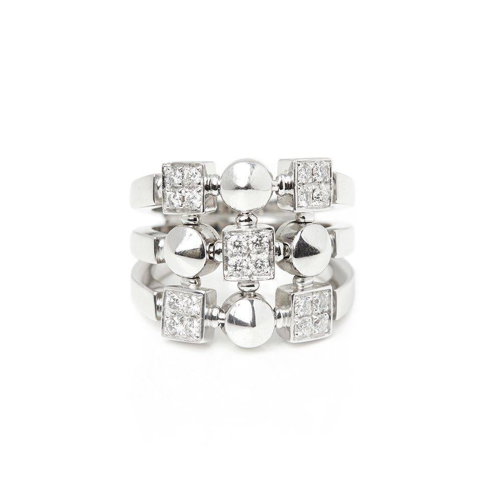 Bulgari 18k White Gold Diamond Lucéa Ring