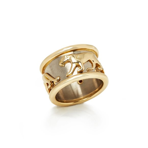 Cartier 18k Yellow & White Gold Panthère Ring