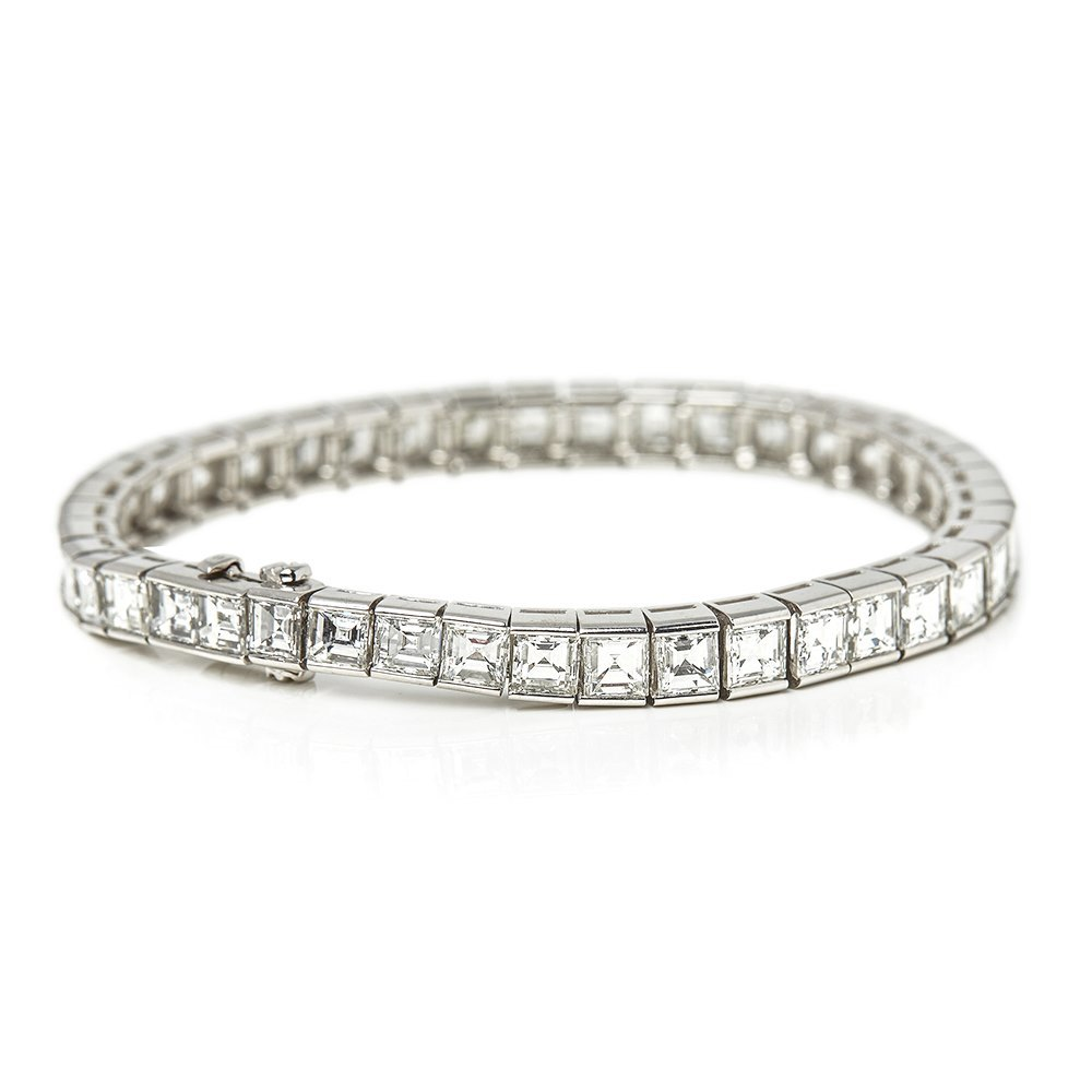 Cartier Platinum 15.00ct Diamond Tennis Bracelet