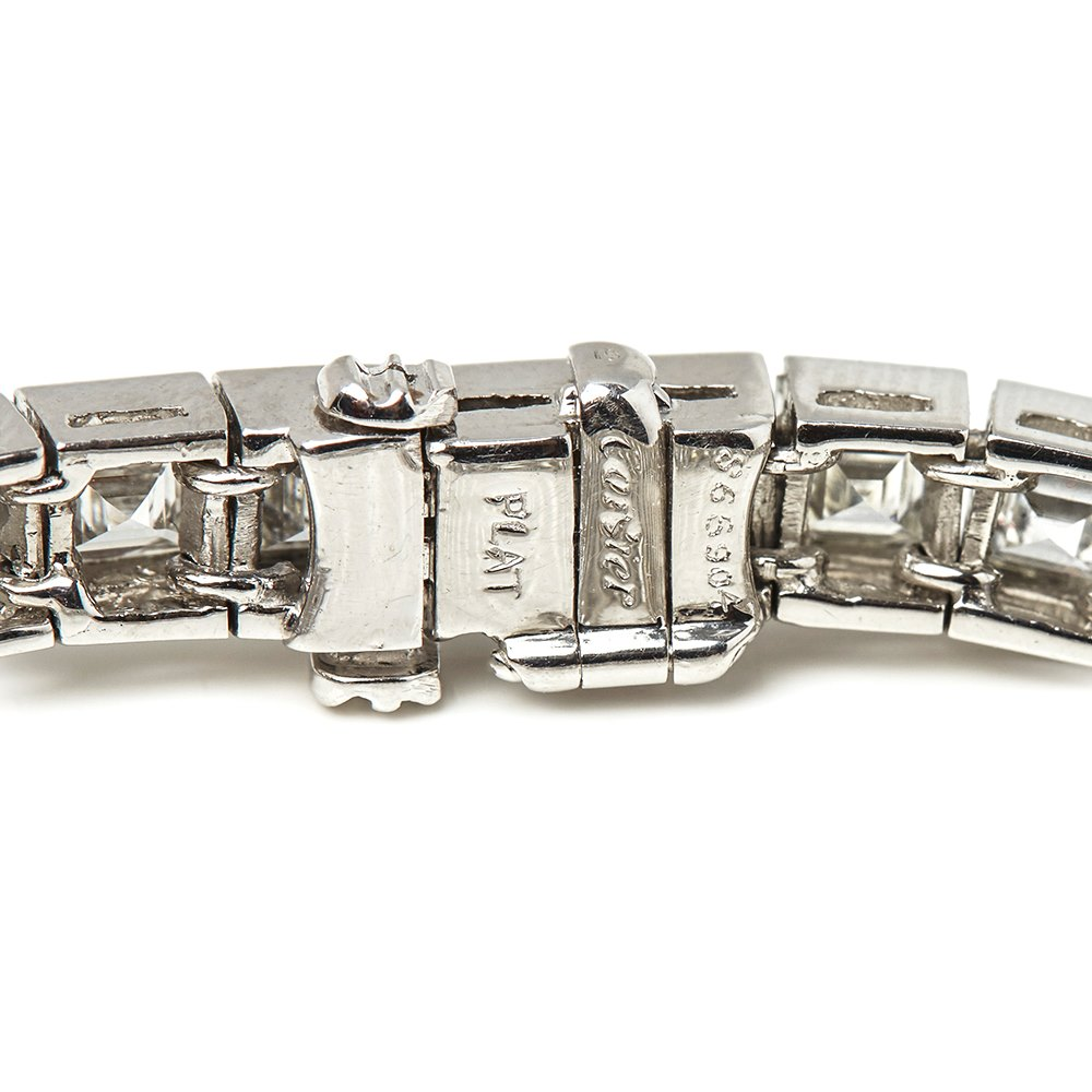 Cartier Platinum: CARTIER PLATINUM 15.00CT DIAMOND TENNIS BRACELET COM1322