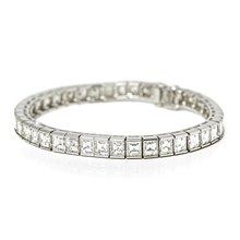 Cartier Platinum 15.00ct Diamond Tennis Bracelet