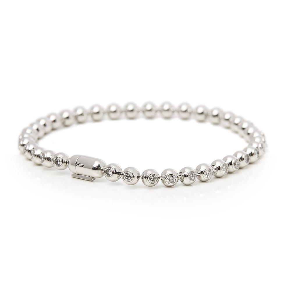 Cartier 18k White Gold Perles de Diamants Bracelet