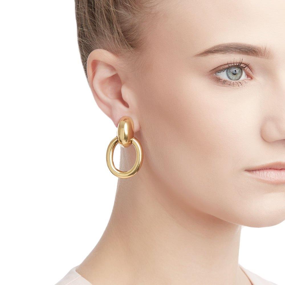 Cartier 18k Yellow Gold Door Knocker Earrings