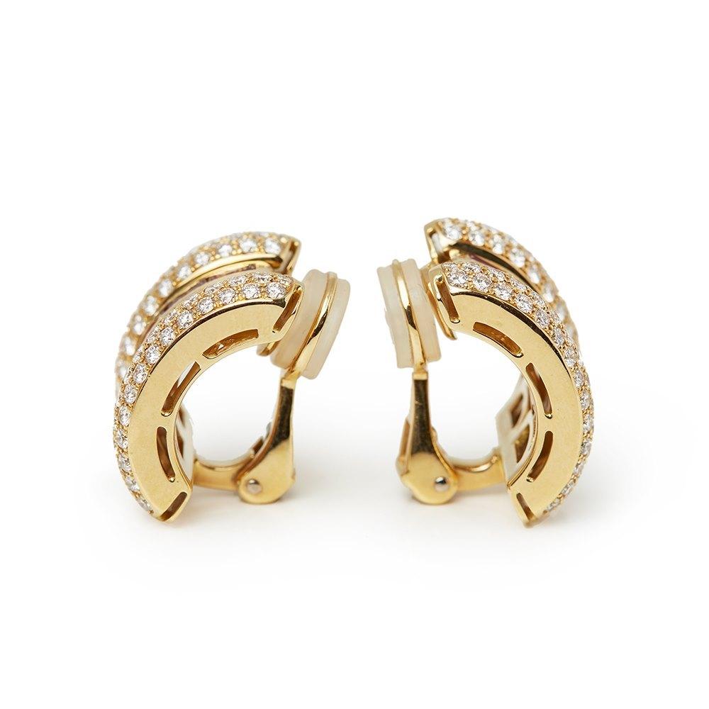 Chopard 18k Yellow Gold Ruby & Diamond La Strada Earrings