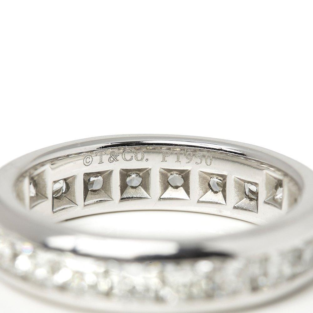 Tiffany & Co. Platinum Full Diamond Eternity Lucida Ring