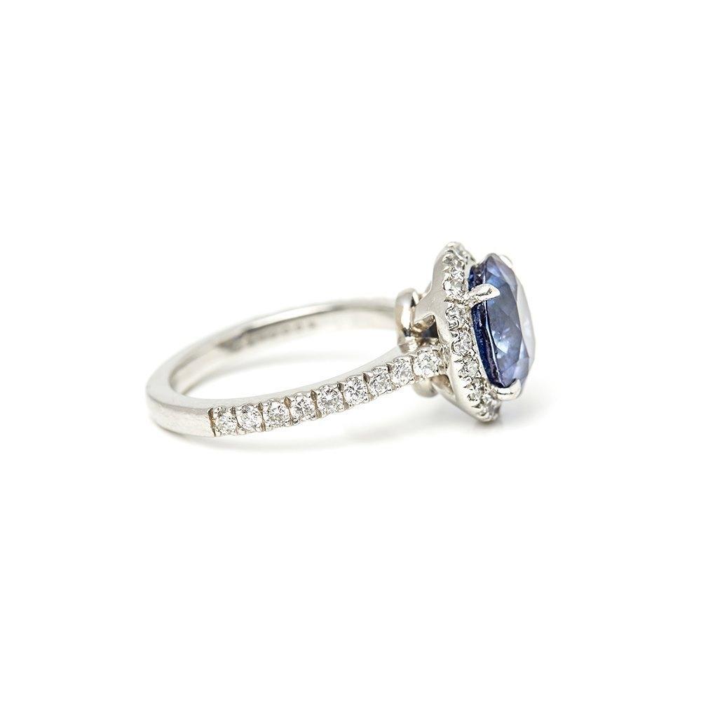 Boodles Platinum Sapphire & Diamond Ring