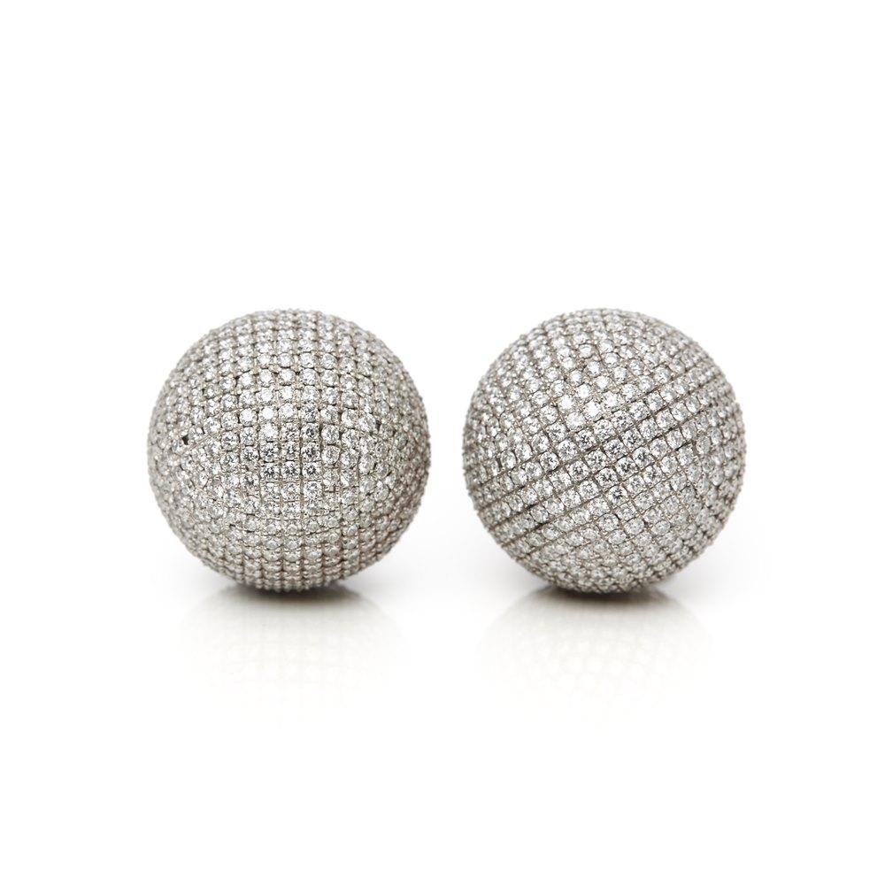 Bottega Veneta Sfera Diamond Earrings