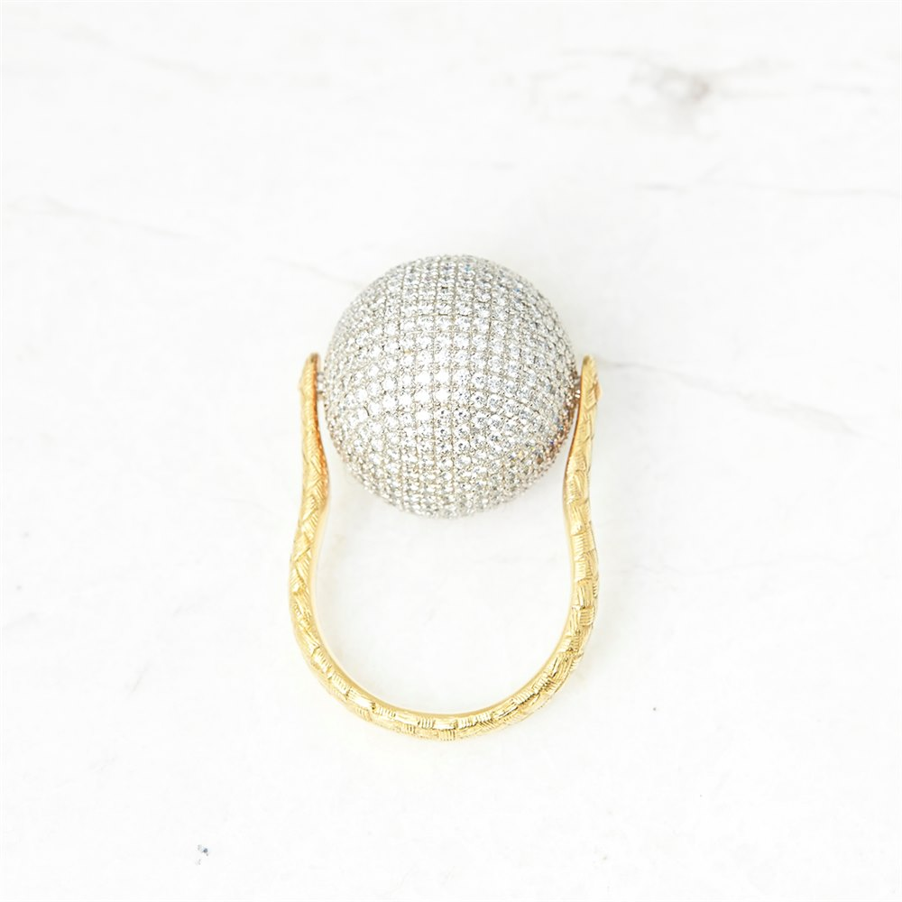 Bottega Veneta Sfera Diamond Ring