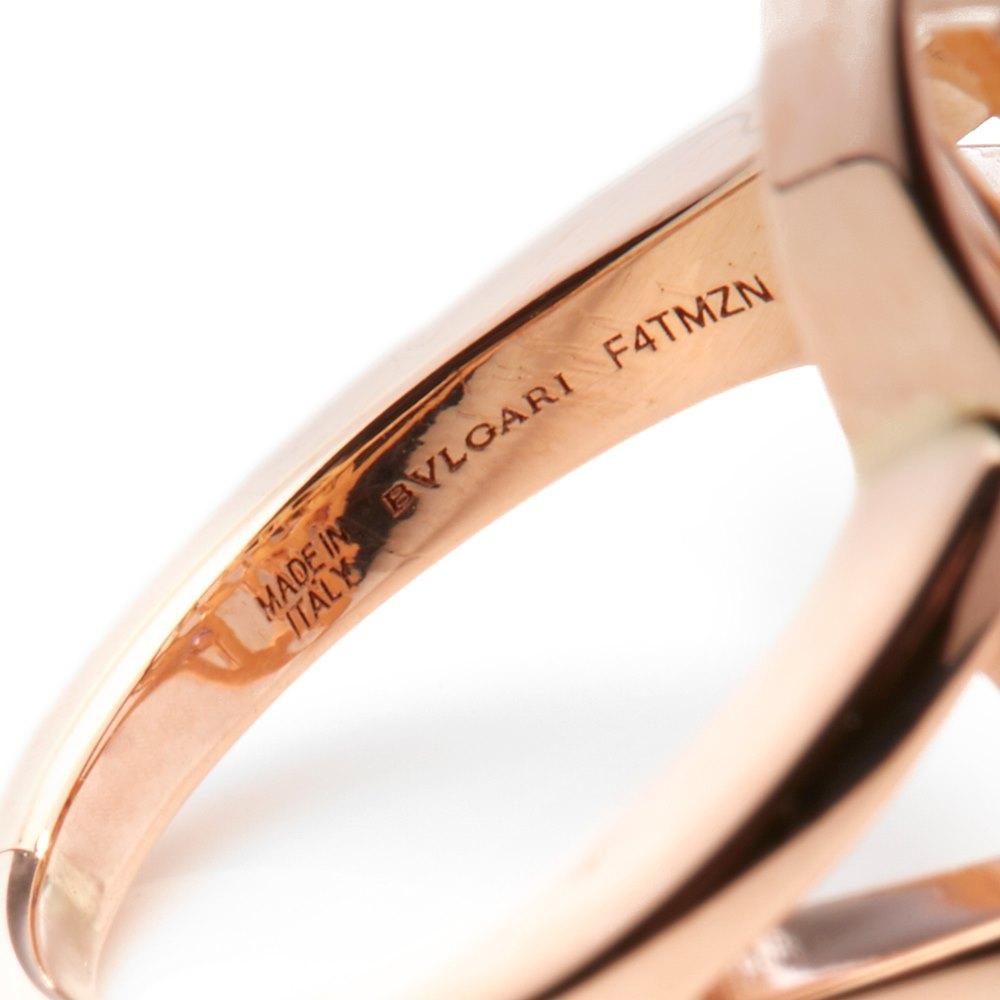 Bulgari 18k Rose Gold Serpenti Amethyst Ring