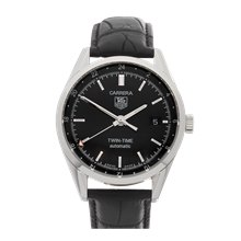 Tag Heuer Carrera Twin Time 39mm Stainless Steel - WV2115-0