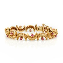 Tiffany & Co. 18k Yellow Gold Ruby Vintage Bracelet