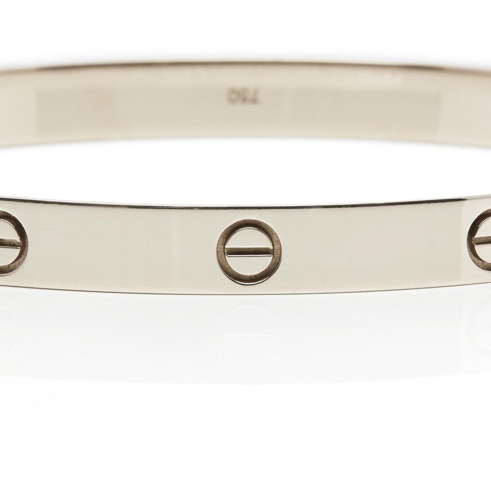 Cartier 18k White Gold Love Bracelet Size 21