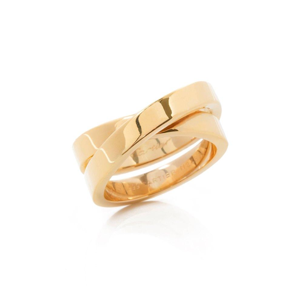 Cartier 18k Yellow Gold Paris Nouvelle Vague Ring