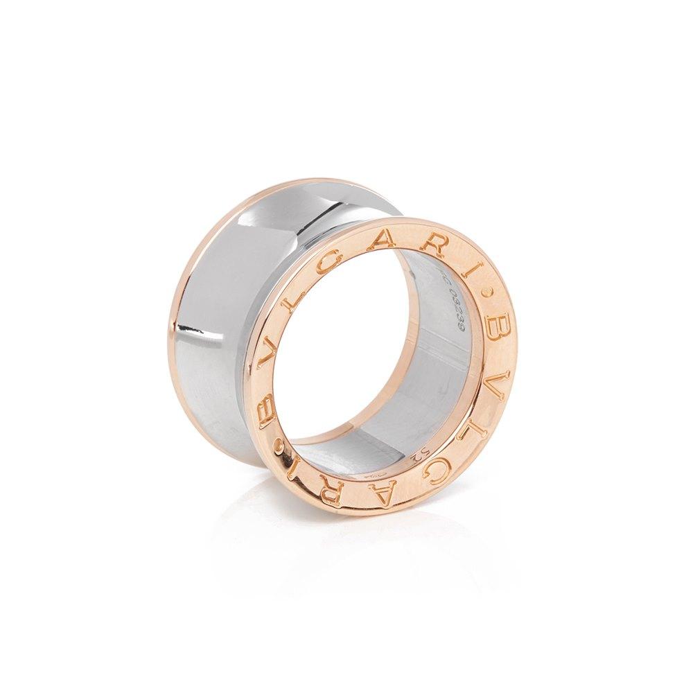 Bulgari 18k Rose Gold & Steel Anish Kapoor Ring