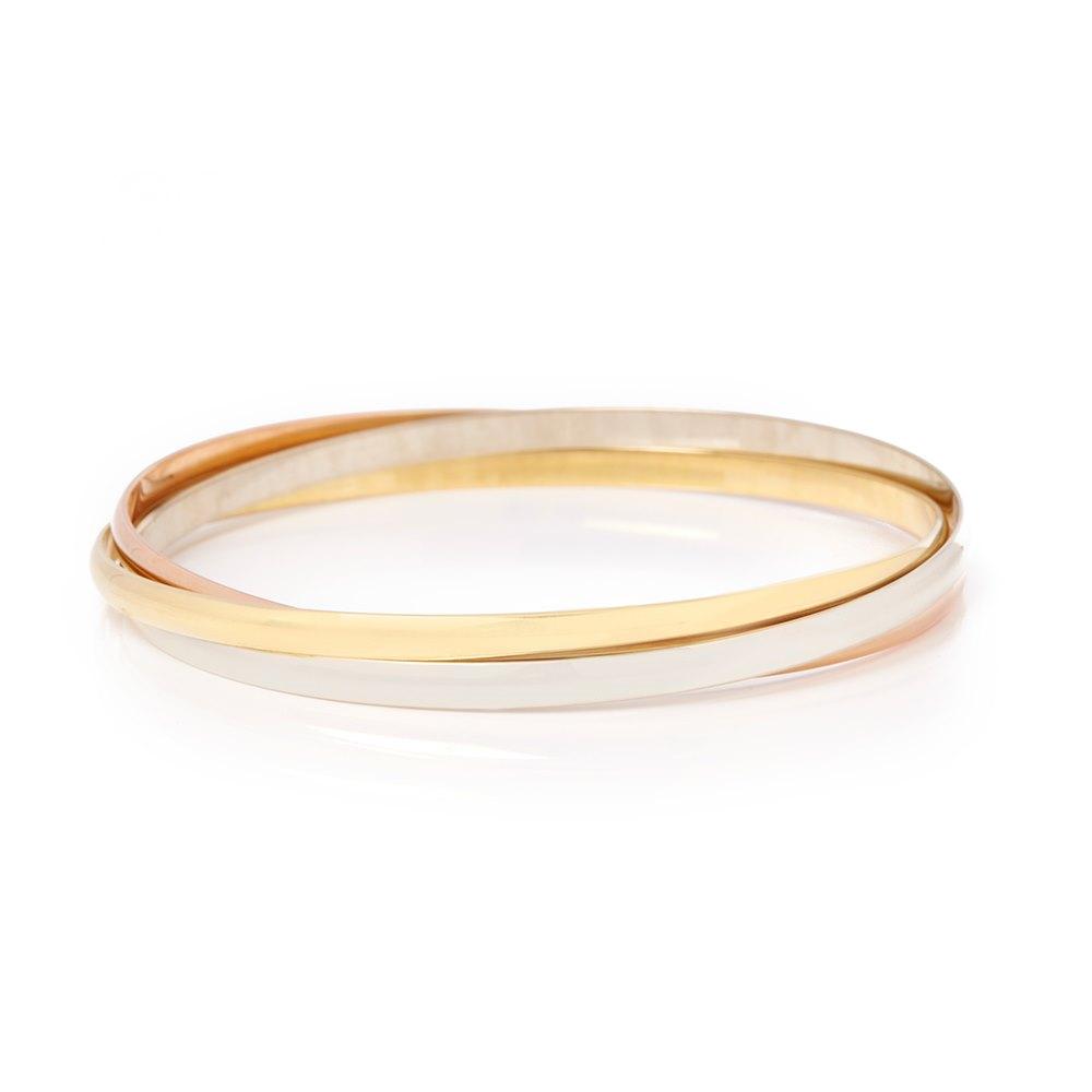 Cartier 18k Yellow, White & Rose Gold Trinity Bracelet