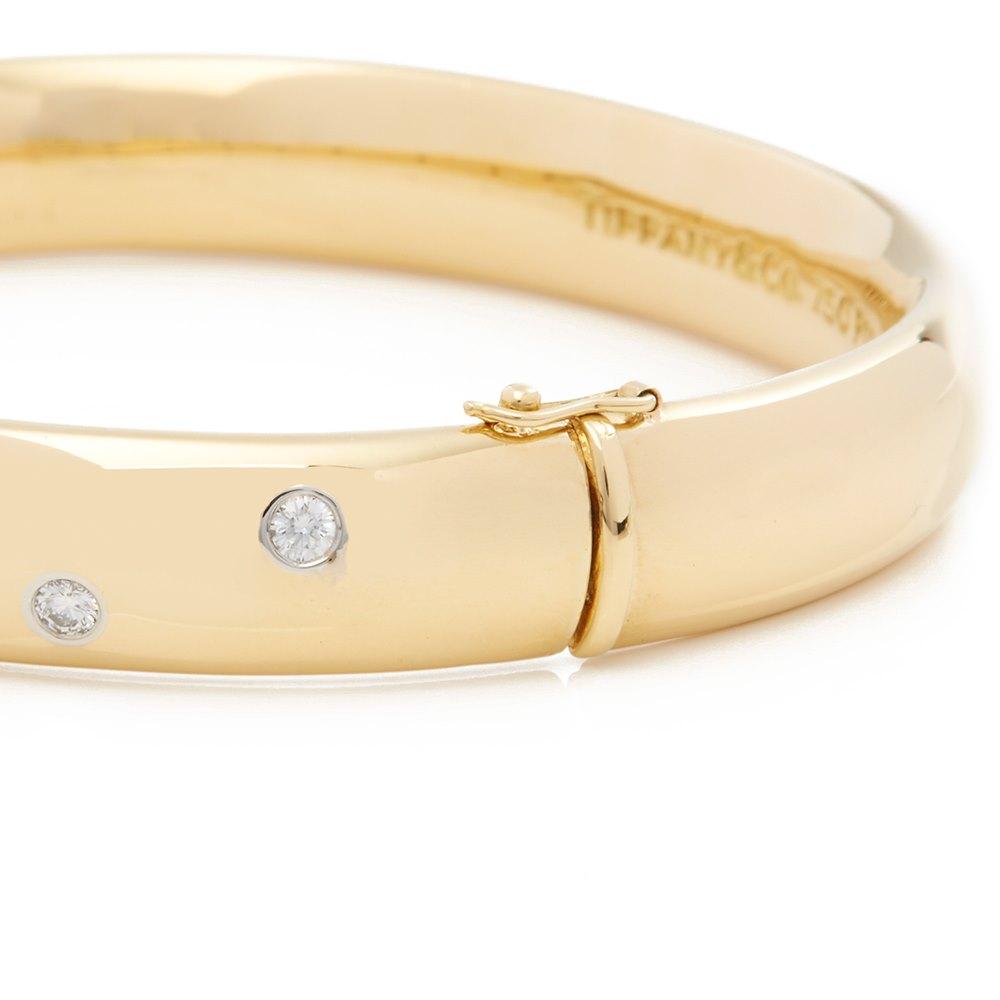 Tiffany & Co. 18k Yellow Gold Diamond Etoile Bracelet