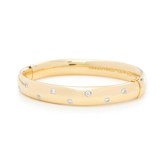 Tiffany & Co. 18k Yellow Gold Diamond Etoile Bracelet