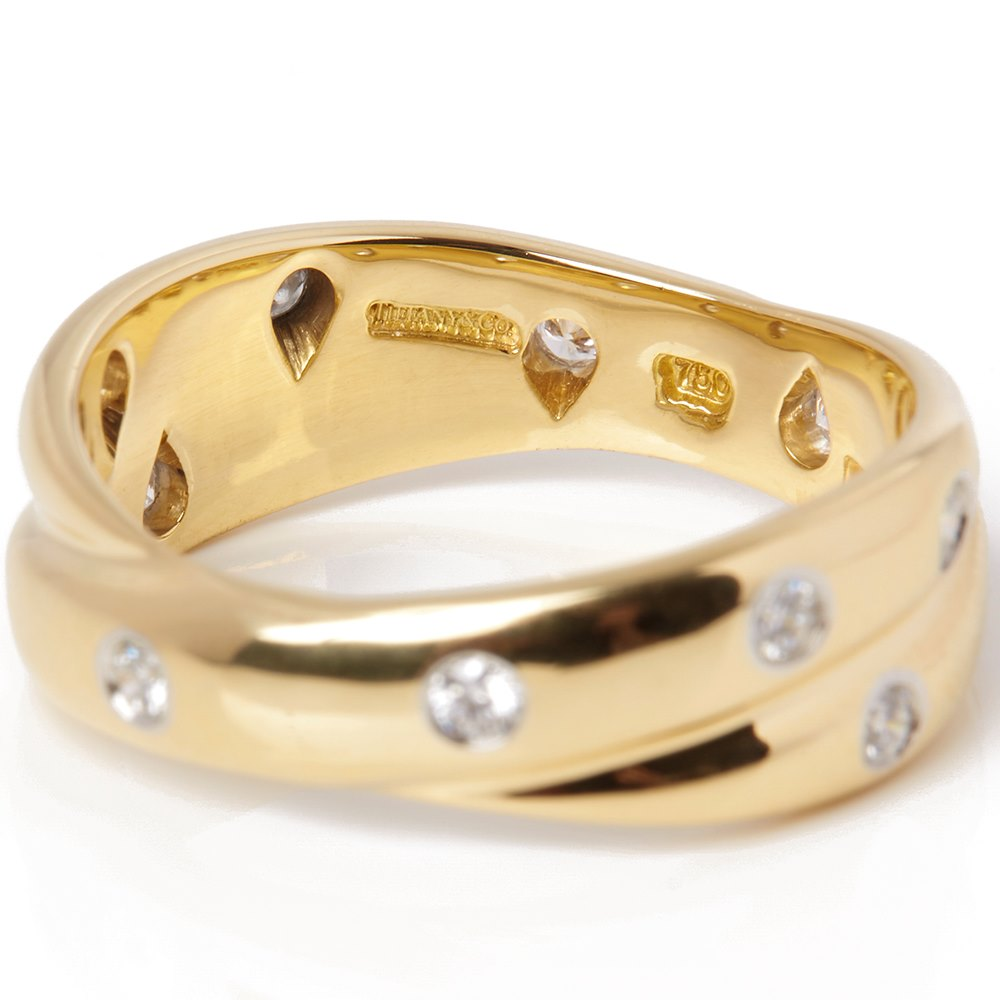 Tiffany & Co. 18k Yellow Gold Diamond Etoile Ring