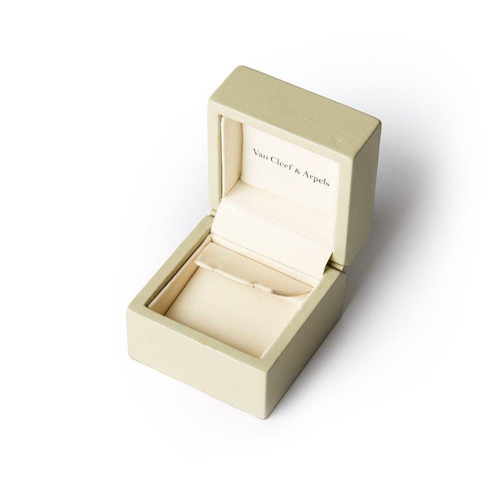 Van Cleef & Arpels 18k Yellow Gold Sapphire & Diamond Flower Trefle Necklace
