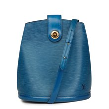 Louis Vuitton Blue Epi Leather Vintage Cluny