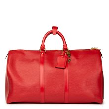 Louis Vuitton Red Epi Leather Vintage Keepall 55