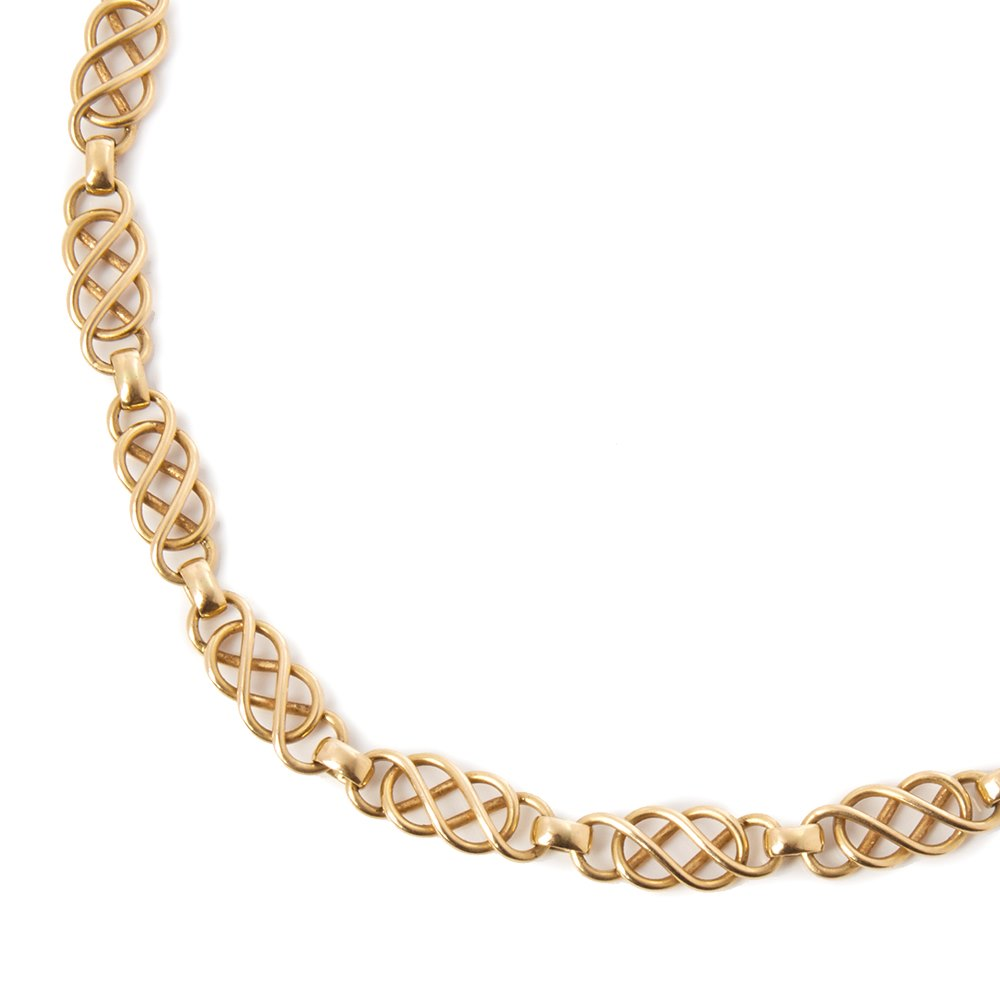 Georg Jensen 18k Yellow Gold Chain Vintage Necklace