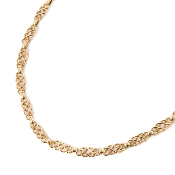 Georg Jensen 18k Yellow Gold Chain Vintage Necklace