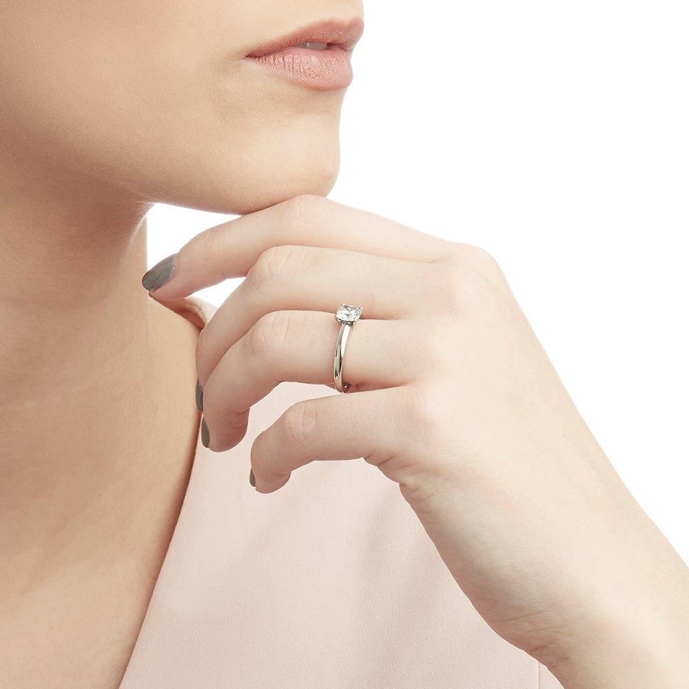 Asprey Platinum 0.87ct Diamond Engagement Ring