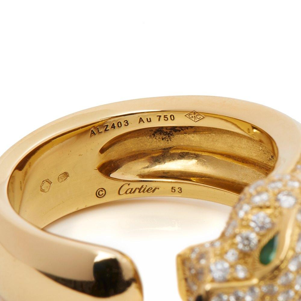 Cartier 18k Yellow Gold Diamond Panthère Ring