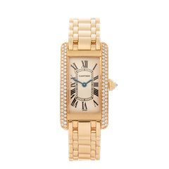 Cartier Tank Americaine 18K Rose Gold - 1710 or WB7043JQ