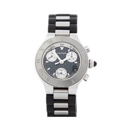 Cartier Must de 21 Chronograph Stainless Steel - 2996 or W10197U2