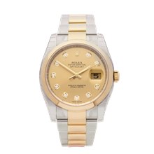 Rolex Datejust 36 Stainless Steel & 18K Yellow Gold - 116203