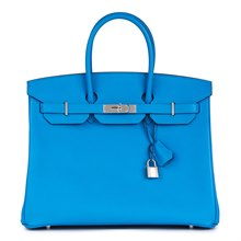 Hermès Blue Zanzibar Epsom Leather Birkin 35cm