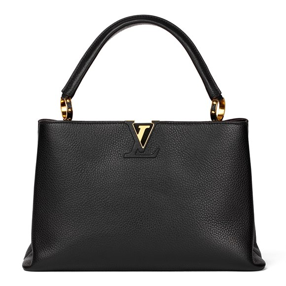Louis Vuitton Black Taurillon Leather Capucines MM